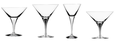 five objects: glasses isolated on hite