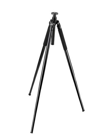tiny lenses: Photo tripod isolated on white background Stock Photo