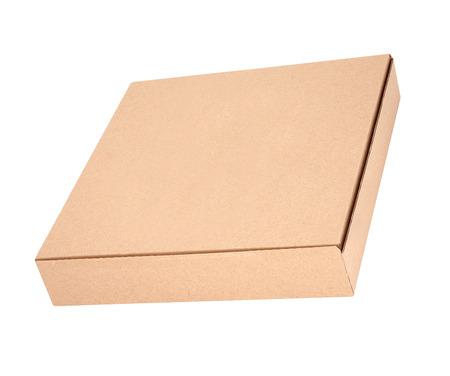 pizza box: una caja de pizza en el fondo blanco Foto de archivo