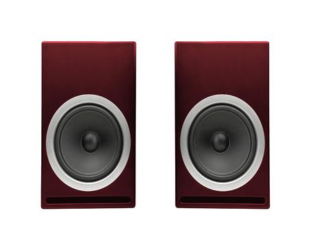 audio speaker: Audio speaker isolated on white Stock Photo