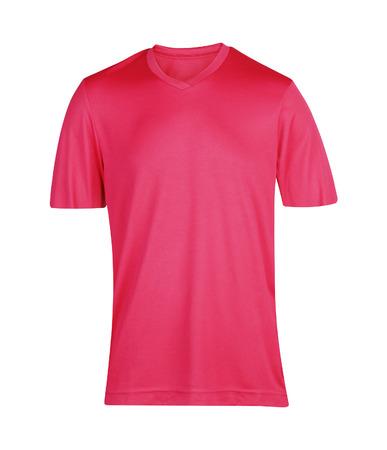 short sleeved: t-shirt isolated on white background Stock Photo