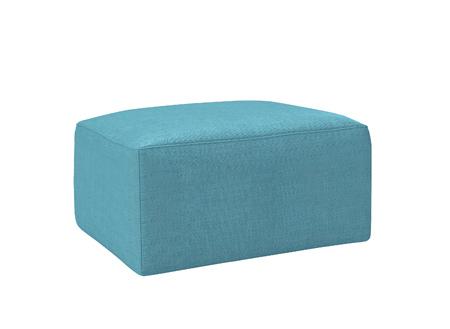 footstool: blue footstool isolated on white
