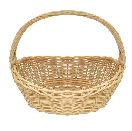 wicker: cesta de mimbre de la armadura de la vendimia