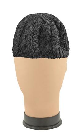 beanie: A brown thick wool beanie hat cap