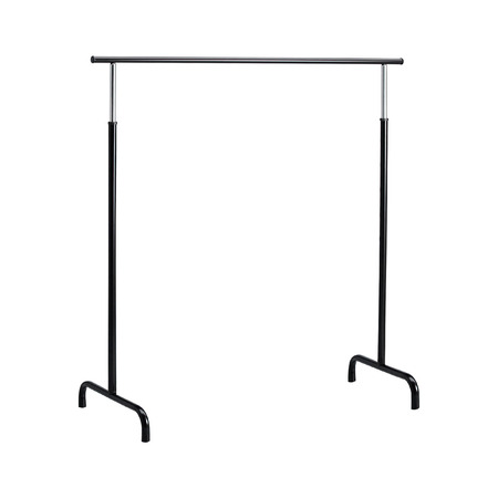 chrome base: Basic adjustable garment clothing rack Stock Photo