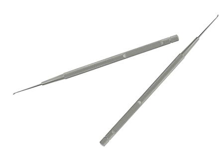 hygien: Set of metal medical equipment tools for teeth dental care