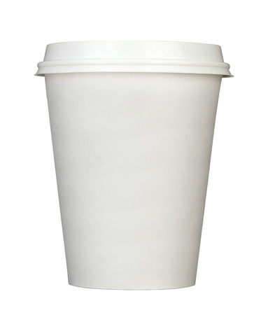 Paper coffee cup isolated on white 免版税图像