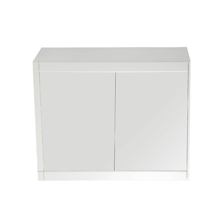 nightstand: wooden nightstand isolated on white Stock Photo