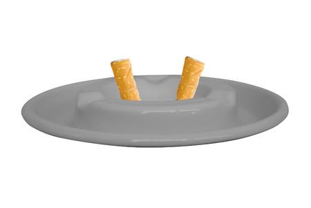 ashtray: Ashtray isolated on white
