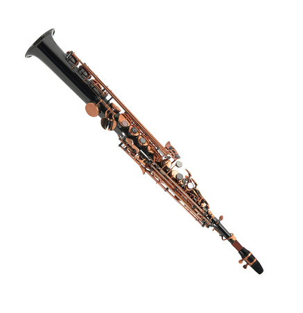 down beat: Clarinet isolated on a white background