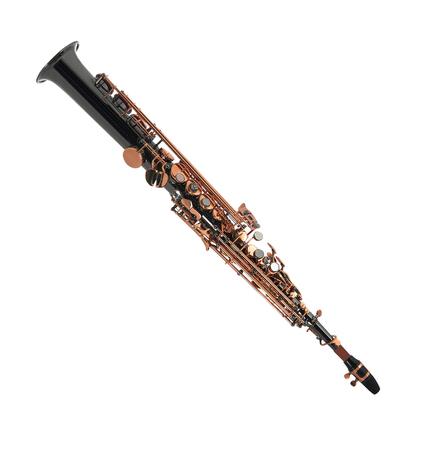 clarinete: Clarinete aislado en un fondo blanco