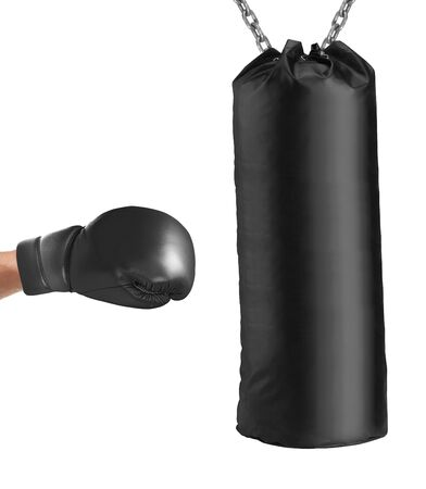 dint: boxing glove punches punching bag