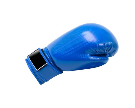 protective: Blue protective boxing glove