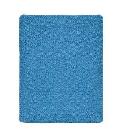 accouterment: blue blanket in white background