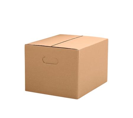 eenvoudige bruine kartonnen doos