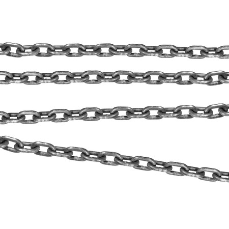 a connected flexible series of metal links