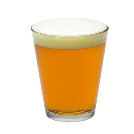 pint: pint of beer isolated on white background