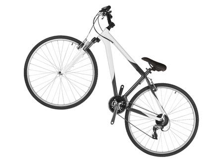 circuit brake: a white mountain bike isolated