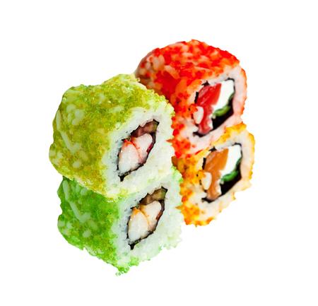 friture: Japanese rolls isolated on white