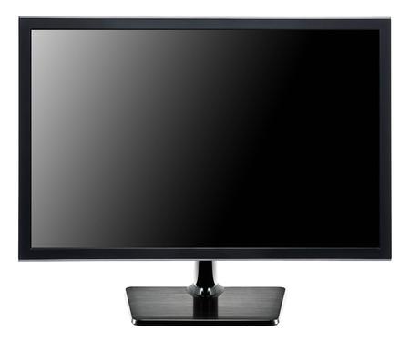 TV flat screen isolated on white Archivio Fotografico