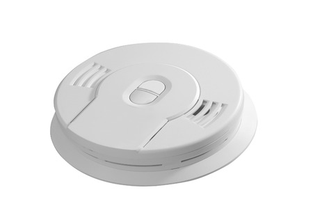 detector: smoke detector isolated on white background