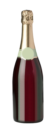 new year s day: Champagne bottle isolated on a white background