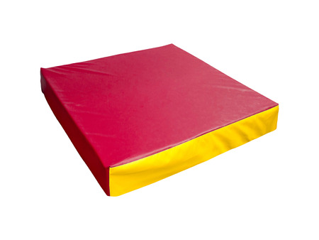 cushioned: red mattress isolated
