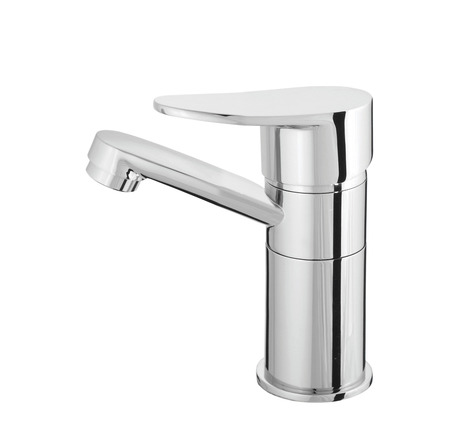 kitchensink: water-supply faucet mixer for water Stock Photo