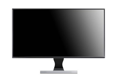 flatscreen: monitor isolated on white