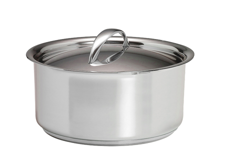 A stainless pan isolated on a white Stock Photo - 52027545