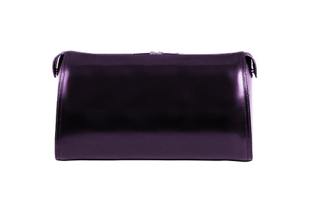 pochette: clutch isolated on white Stock Photo