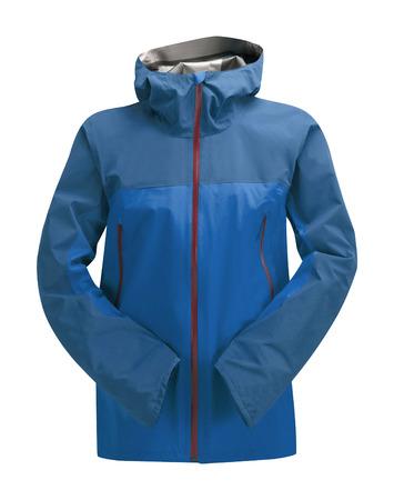 Rain Jacket Blue isolated