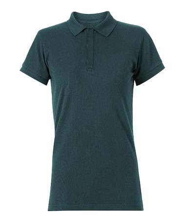 v neck: Gray tshirt isolated on white