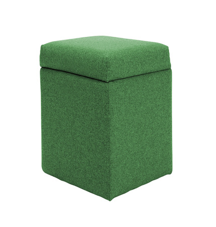 footstool: green footstool isolated on white Stock Photo