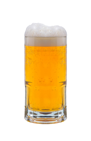 beer on a white background Stock Photo