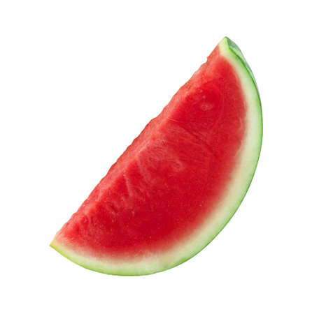 pervaded: water mellon isolated on white Stock Photo