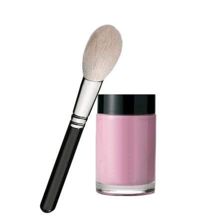 make up brush: make up brush isolated on white