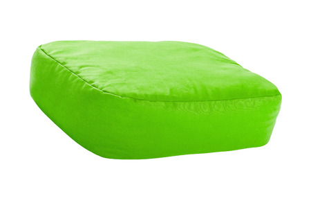 bedder: green pillows isolated on white