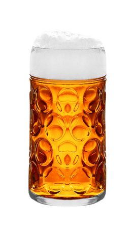 wallop: light beer on a white background Stock Photo