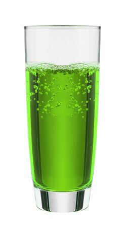 soda water: Green fruit flavor soft drinks whit soda water Stock Photo