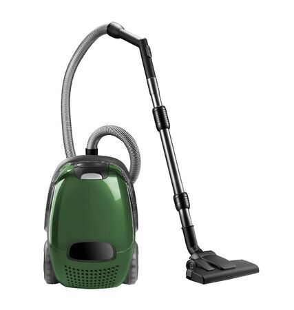 carpet stain: Vacuum cleaner isolated on the white