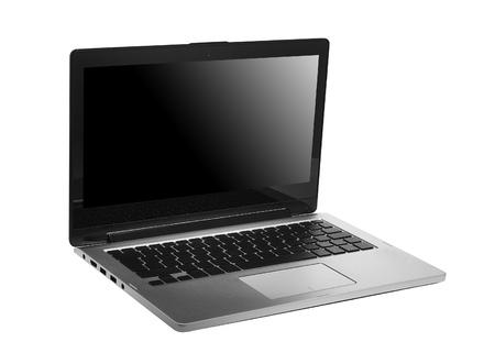 baclground: laptop on white baclground