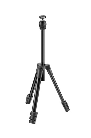 tiny lenses: photo tripod isolated on white