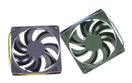 airflow: computer cooler isolated on white background