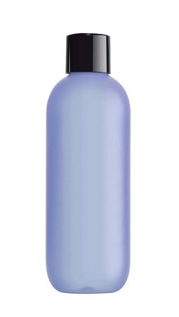 toner: Blue bottle cosmetic packaging of toner isolated on white background