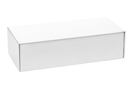 Blank box isolated on white background Archivio Fotografico