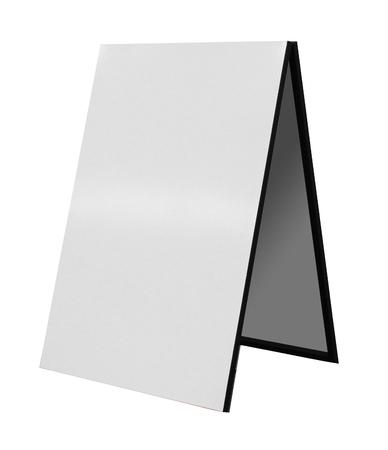 pizarra: Tarjeta de emparedado aislado en blanco Foto de archivo