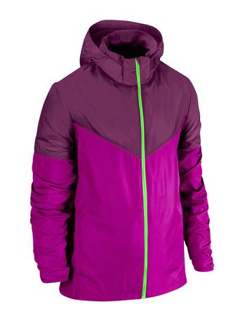 jupe: violet jacket isolated on white