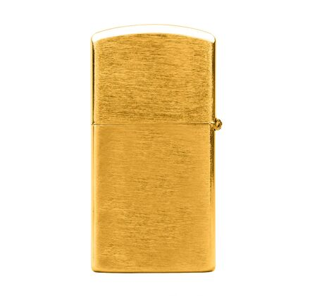gas lighter: Elegant golden gas cigarette lighter