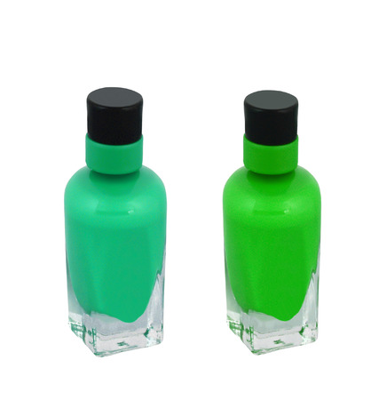 nail polish bottle: nail polish bottle on white background Stock Photo